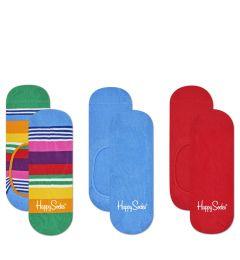 HAPPY SOCKS 3-Pack Stripe Liners MST18