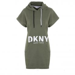 DKNY CUT OFF LOGOHOODED SNEAKER DRESS DP0D4206