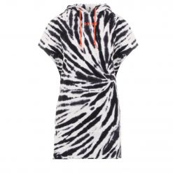 DKNY TIE-DYE HOODED SNEAKER DRESS DP0D4244