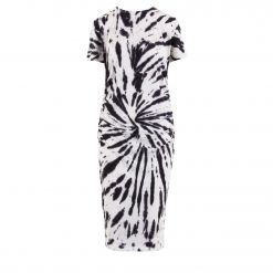 DKNY TIE-DYE RUCHED WAIST T-SHIRT DRESS DP0D4274