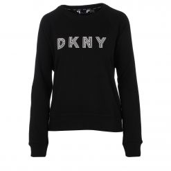 DKNY EMBROIDERED TRACK LOGOBOXY CREWNECK PULLOVER DP0T7751