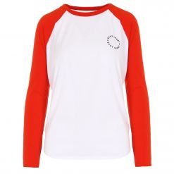 DKNY LONG SLEEVE LOGO BASEBALL TEE DP9T6678