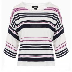 DKNY S/S CREW NECK STRIPE T-SHIRT P0CD5E39