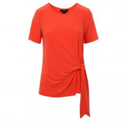 DKNY S/S TOP WITH TIE DETAIL P9LH7DZB