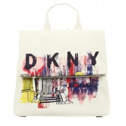 DKNY TILLY - MED FLAP BACKPACK - GRAFFITI R94KN975 BACKPACK